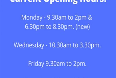 CURRENT OPENING HOURS